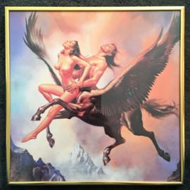 12 x Boris Vallejo ingelijste prints 30 x 30