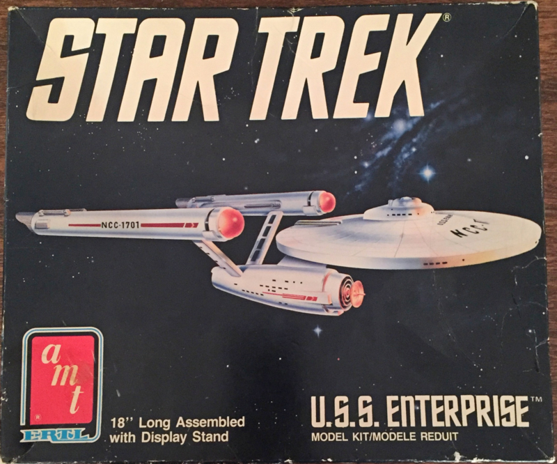 "Vintage Star Trek 18"" USS Enterprise Space Ship 1989"