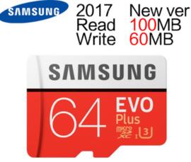 Samsung 64GB MAX R 100MB/S W 60MB/S Memory MicroSD 64G