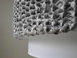 Hanglamp gebreid grijs