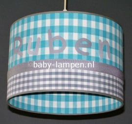 Lamp kinderkamer Ruben blauw grijs
