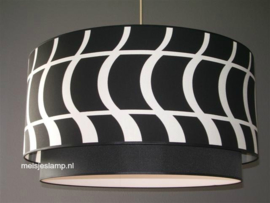 Hanglamp zwart wit motief