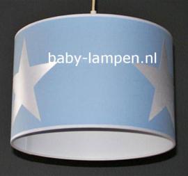 Lamp kinderkamer lichtblauw 3x witte ster