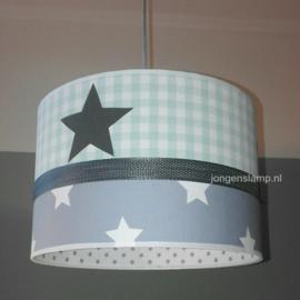 kinderlamp mintgroen grijs sterren