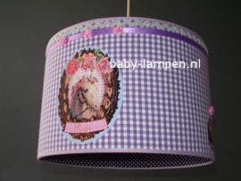 Lamp kinderkamer  3x paarden paars