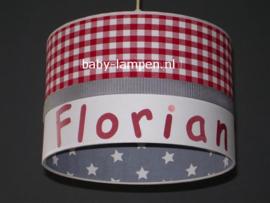 Lamp kinderkamer rood grijs Florian