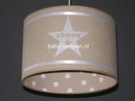 lamp kinderkamer beige 3x ster en naam