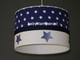 Lamp kinderkamer donkerblauw met sterren
