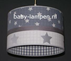 Lamp kinderkamer grijs wit zilver sterren