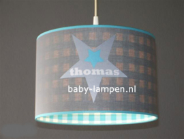 Lamp kinderkamer grijs 3x ster Thomas