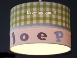 Lamp kinderkamer groene ruit Joep