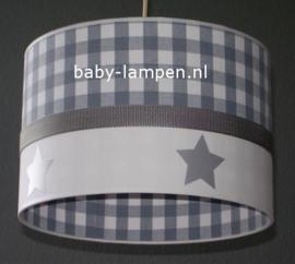 Lamp kinderkamer grijze ruiten en sterren
