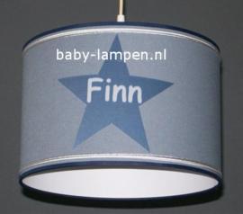 Lamp kinderkamer grijs 3x ster met Finn