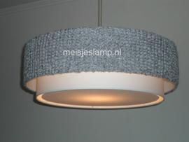 Gebreide hanglamp grijs