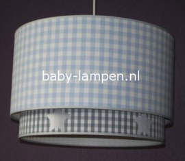 Lampen kinderkamer lichtblauw grijs