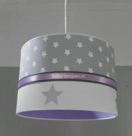lamp kinderkamer lichtgrijs sterren en lila
