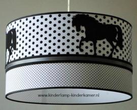 Lamp kinderkamer paard 3x zwart wit