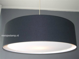 Hanglampen zwart linnen