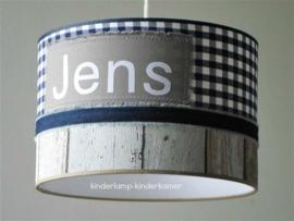 Lamp kinderkamer steigerhout Jens