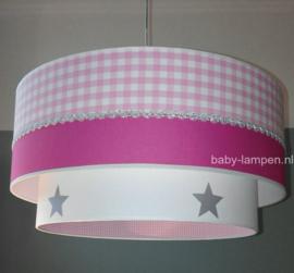 kinderlamp roze fuchsia zilver