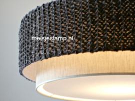 gebreide lamp taupe