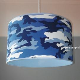legerlamp blauw tinten
