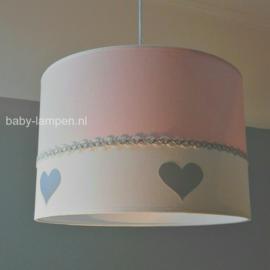 Lamp kinderkamer roze zilver hartjes