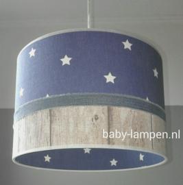 lamp kinderkamer jeansblauw steigerhout