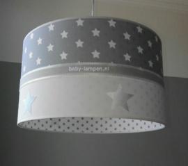 lamp kinderkamer grijze en zilveren sterren
