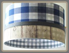 Lamp kinderkamer kobaltblauw steigerhout
