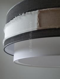 Lampenkap wit taupe