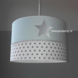 meisjeslamp mint groen zilver ster