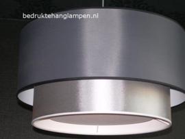Lampenkap zilver grijs