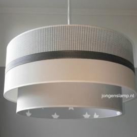 dubbele kinderlamp grijs