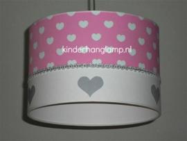 lamp kinderkamer roze zilveren hartjes