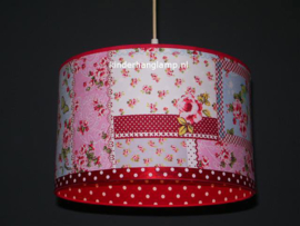 lamp meisjeskamer patchwork rode stip
