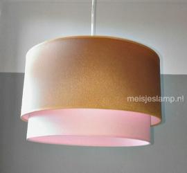 lamp kinderkamer roze en goud