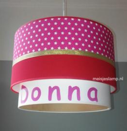 kinderlamp Donna rood roze goud