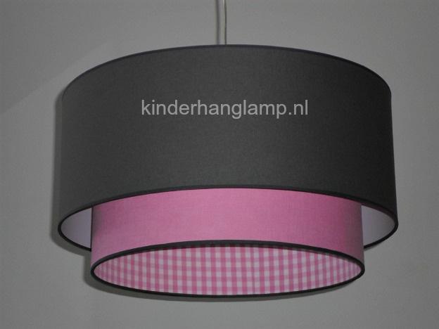Lampen kinderkamer antraciet roze