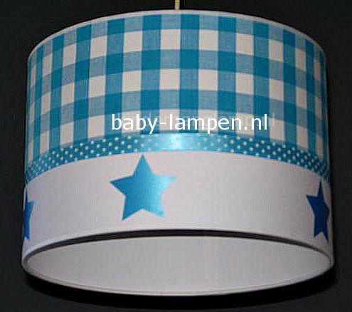 Lamp kinderkamer aquablauw sterren
