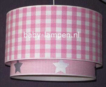 Lampen kinderkamer roze zilver