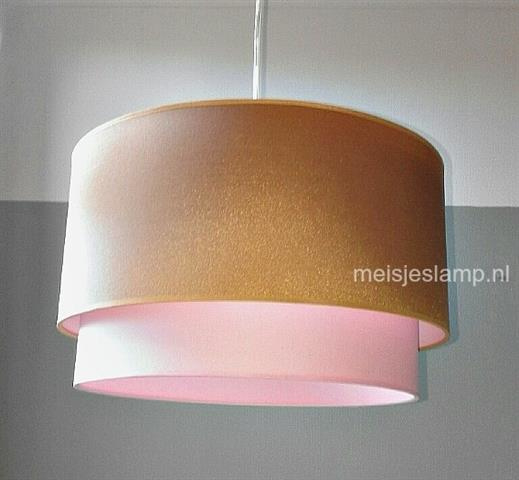Lamp kinderkamer goud en roze