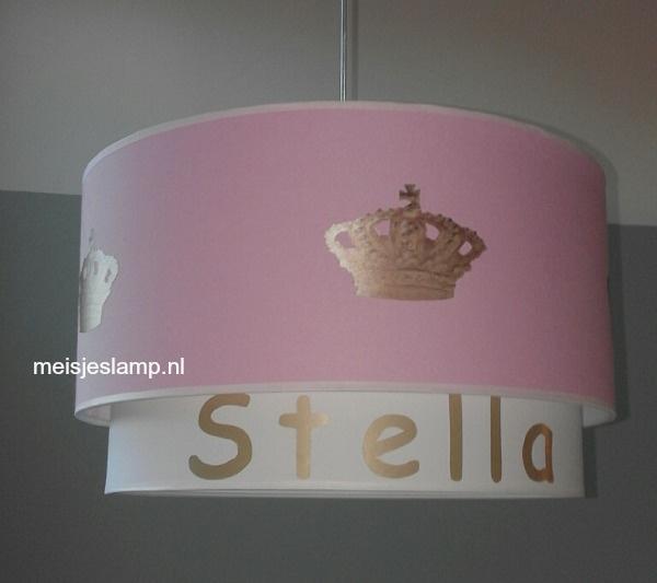 kinderlamp Stella met gouden kroon