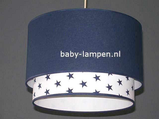 Lampen kinderkamer donkerblauw wit met sterren