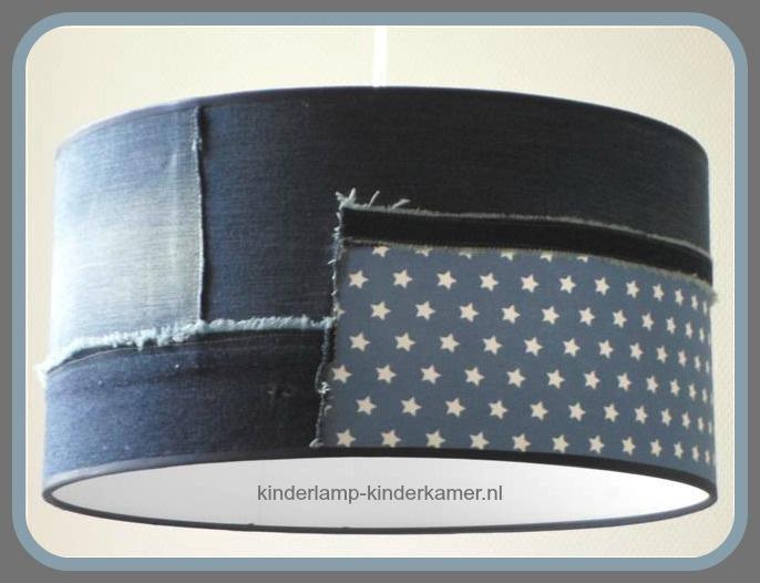 Stoere lamp kinderkamer jeans sterren