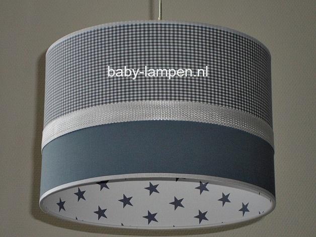 Lamp kinderkamer grijs wit