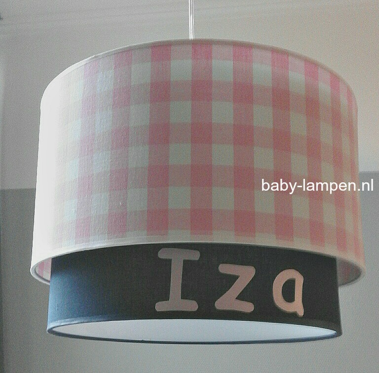 lampenkappen Iza roze donkerblauw