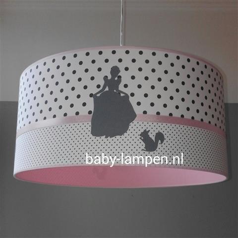 Meisjeslamp roze prinsessen
