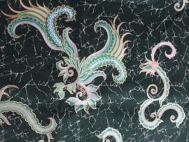 Batik design mondkapje (Groen en Paars/roze)