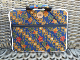 "batik laptop sleeve Blauw of Rood  14"""